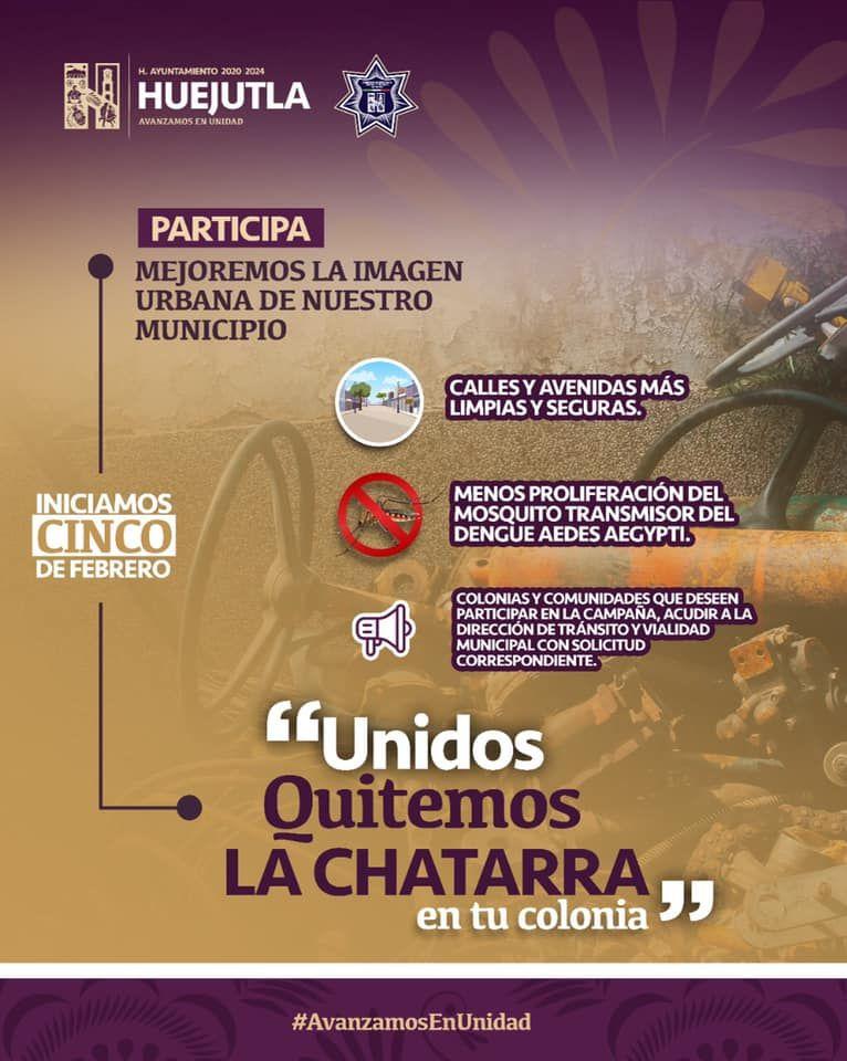 """CAMPAÑA """"UNIDOS, QUITEMOS LA CHATARRA EN TU COLONIA"""""""